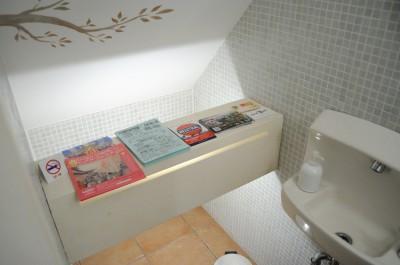 オシャレなロハスカフェのトイレ。