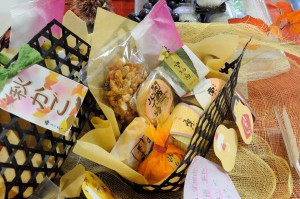 和菓子の盛り合せ「かご盛り」。