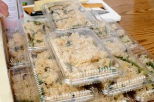 山菜おこわ。和菓子屋さんの絶品おこわです。