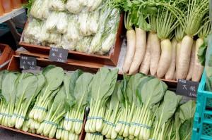 ロハスカフェさんの奈良県産の野菜。鮮度抜群。味も良し!