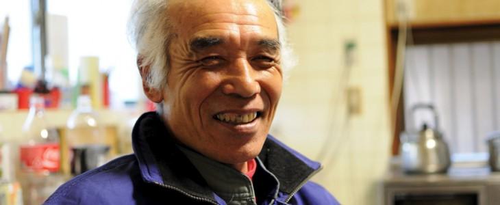 木村長晴さん。ロハスカフェの木村店長のご親戚で、野菜を作っておられます。