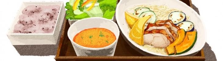 ロハスカフェのイタリアンつけ麺