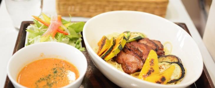 上新庄ロハスカフェのイタリアンつけ麺